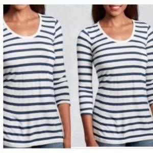 CAbi #425 L Bonjour Striped T-Shirt Top 0165